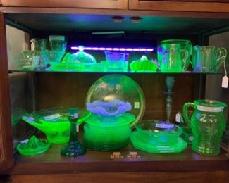 more glowing vaseline glass