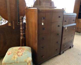 Waterfall Depression chest and Dresser, clean out old furniture