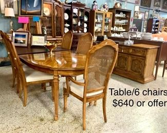 Table and 6 ch 640. Or offer