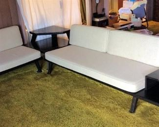 MVF001 Japanese Wooden Frame Sofa, Love Seat & End Table Set