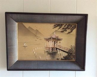 MVF006 Framed Oriental Silk Embroidered Picture