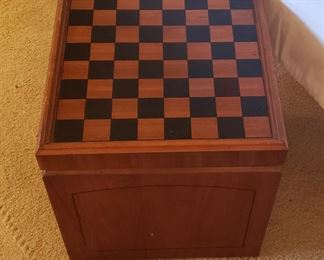 Wooden checkers stool