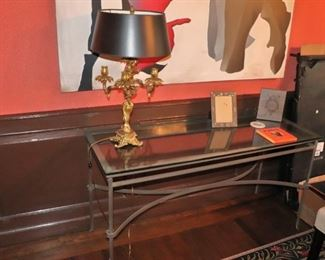 Console Table and Lamp