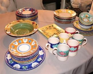 Variety of Colorful Dishware