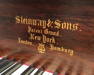 1880 Rosewood Grand piano Steinway - with full historical authentification.