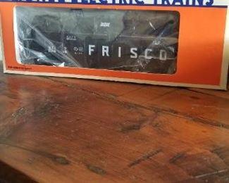 lot 2 Frisco locomotive and Frisco coil Gondola in box $45 pick or ship