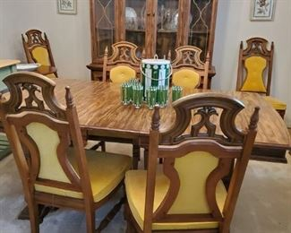 Dining room table and chairs with matching china cabinet