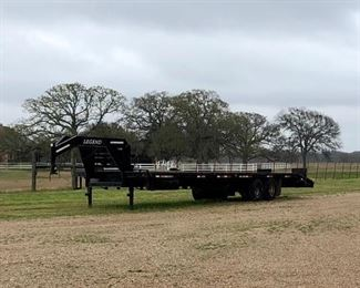 32ft Legend Gooseneck Trailer, 5ft Dove Tail, 12,000 lb. Ramsey Winch