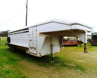 CM 28ft. Trailer with heavy gage steel floor