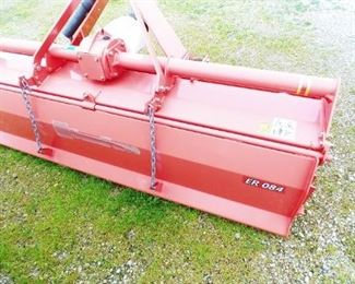 TerraForce ER-084 Rotary Tiller, 3 yrs left on warranty on gear box, only used two days, will fit category 1 or 2 tractor