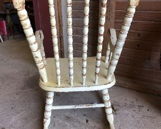 Vintage Oakhill Children's Rocking Chair