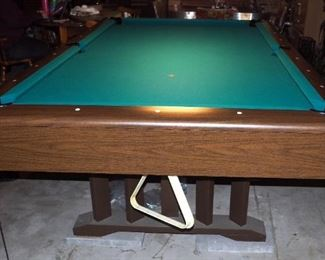 """All-Tech Industries Flamenco III Slate Top Pocket Pool Table, 31"""" x 101"""" x 57"""", Includes Table Cover"""