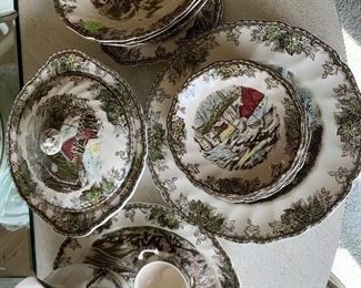 Johnson China friendly village set. Asking $60.00 for set. Item may have some chips.