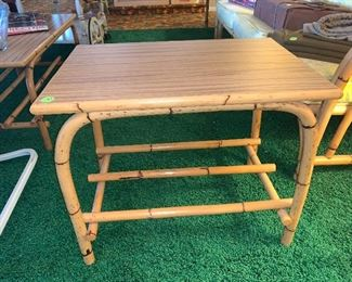 Bamboo base table. 2 available  29x24 $15.00
