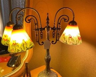Beautiful hand painted glass shades