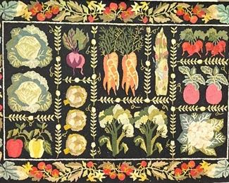 """Claire Murray hooked accent rug 39""""x59"""" $75"""