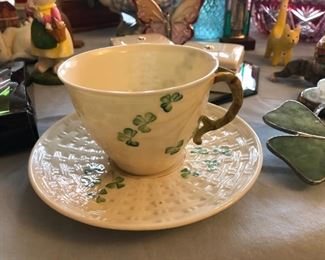 Belleek cup and saucer