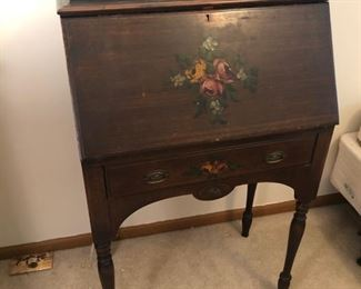 Small painted wood desk - $60