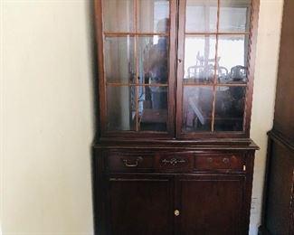 1950's mahogany china cabinet