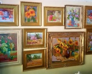 Amazing collection of original art by a well know local artist-Kanya Bugreyev