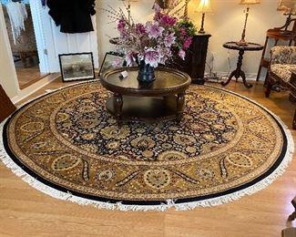 """Wonder 10'5"""" diameter Wool rug"""
