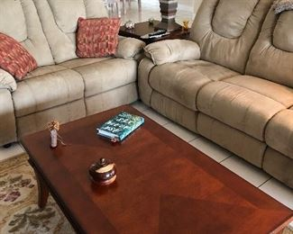 Sofa & love seat with recliners