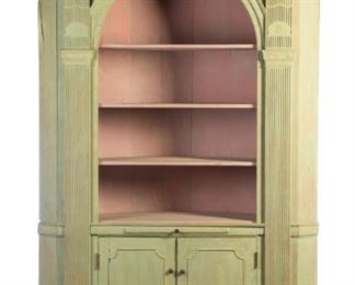 Architectural Corner Cupboard to sell March 28, 2020 Garths Country Americana Auction