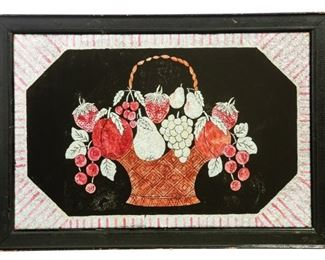 Basket of Flowers from Hooked Rug Collection to sell March 28, 2020 Garths Country Americana Auction