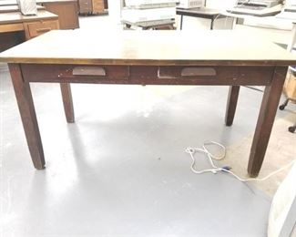 5ft Wood Desk With 2 Drawers