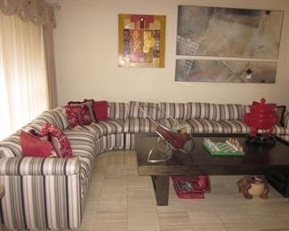 Lovely Custom Sectional Sofa and tables