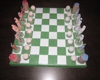 Golfer Chess Set