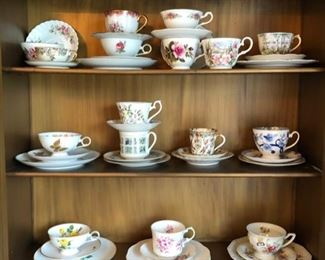 English tea cup collection