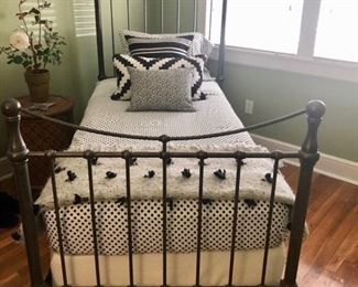 Pottery Barn iron twin bed