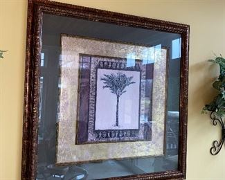 FRAMED ART-PALM TREE $45