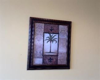 FRAMED ART- PALM TREE  $45