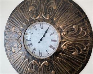 BUCHANAN CLOCK CO. ROUND WALL CLOCK $45
