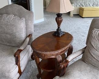 OVAL WOODEN TABLE $150