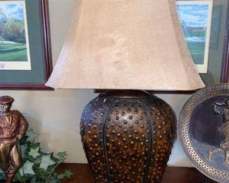 METAL TIN LAMP $60