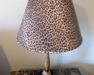 ANIMAL PRINT LAMPS-2 AVAILABLE $40 EACH