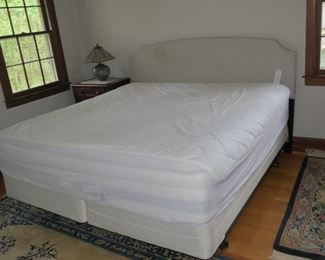 KING SIZE BED AND HEADBOARD AVAILABLE FOR EARLY SALE.  295.  919-417-1950.