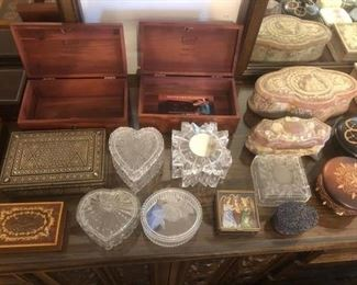 and glass trinket boxes!