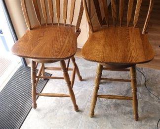 Oak bar stools