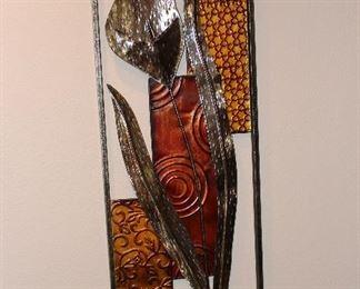 Metal art framed