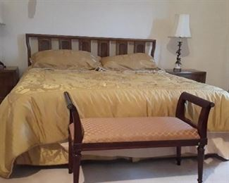 Mid-century model bed frame and mattress only $150