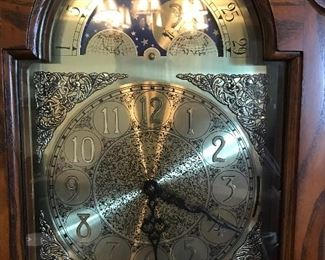 Pearl Grandfather Clock: Chimes every half hour, believe me!