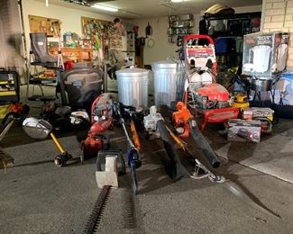 BLOWERS, MOWERS, EATERS, TRIMERS, HEDGERS, TOW BEHIND GARDEN DUMP CARTS, SEED, FEED, FERTILIZER, SPREADER, GLOVES, KOOZIES, & SUN BLOCK!