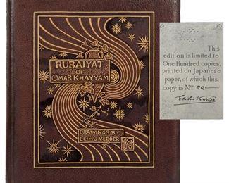 Rubaiyat of Omar Khayyam Limited and Signed 1884 edition illustrated by Elihu Vedder.