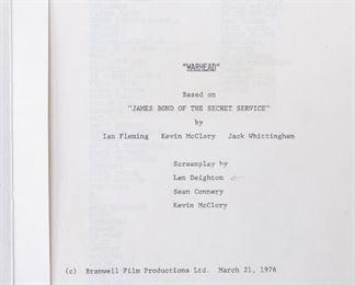 Original James Bond Movie Script