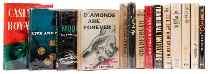 Complete set of all the first American edition James Bond novels