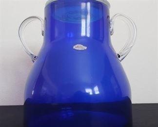 Cobalt Blenko Glass Decanter & Apple https://ctbids.com/#!/description/share/357062